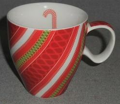 2005 Starbucks CANDY CANE DESIGN Handled Mug GREAT COLOR! - $14.84