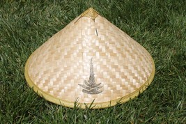 Asian Chinese Vietnamese Bamboo Straw Sun Rice Garden Fishing Hat ( QTY 6 ) - $53.38 CAD