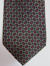 NEW Brooks Brothers Blue With Gold Ovals and Red Centers Silk Tie - $37.49