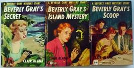 Beverly Gray 3 Lot Secret  Island Mystery  Scoop hc Clover Books Clair B... - $24.00