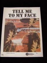 Tell Me To My Face Keys 04957 The Hollies Graham Nash Tony Hicks Allan C... - $16.99