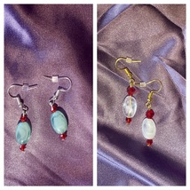 crystal drop earrings - $4.95