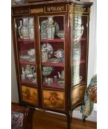 Rare French Vernis Curved Vitrine Curio Cabinet - $2,295.00