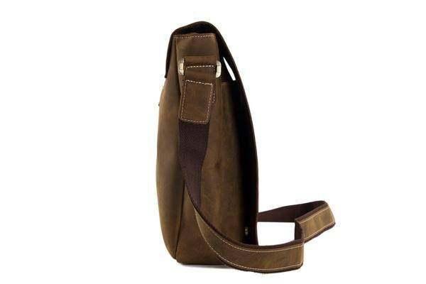 Sale, Handmade Vintage Leather Bag, Leather Messenger Bag, Men's Leather Shoulde image 3