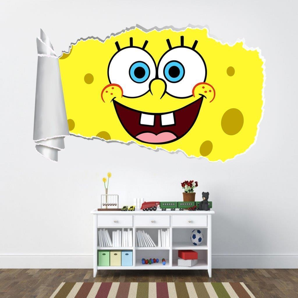 Personalized SpongeBob Squarepants Wall Decal Removable And ...