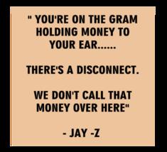 Jay Z Money Quote Ladies V-Neck T Shirt - $12.00