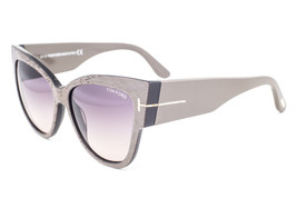 Tom Ford Anoushka Dove Gray / Brown Gradient Sunglasses TF371-F 38B Asian fit - $195.02