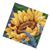 """Dimensions Point Kit, Sunflower And Ladybug Floral Point, 5"""" X 5"""" - $17.99"""