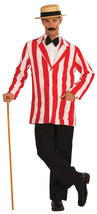Red & White Men's Old Time Victorian Jacket Costume - $33.29