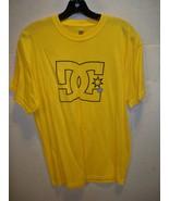 DC SHOES MEN'S GUYS CLASSIC HOLLOW YELLOW LOGO T SHIRT TEE NEW $30 - $17.99