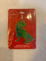 Hallmark Green Dinosaur T-Rex Dino Christmas Tree Ornament Metal New - $12.00