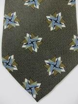 NEW Jhane Barnes Green W/ Blue Stars Silk Tie Made in Japan - $28.49