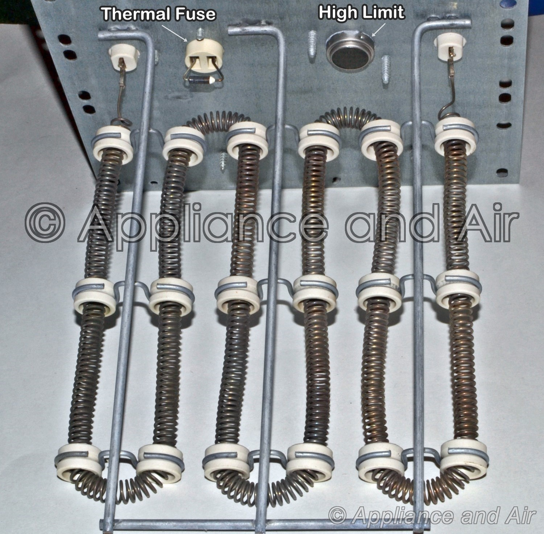 """Electric Heating Element Kit Restring HVAC PART FURNACE 3/8"""" 5KW 240V, UNIVERSAL"""