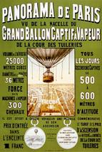 Vintage French POSTER.Paris Hot Balloon.Room Decor.Interior design.587 - $10.89+