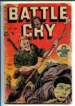 BATTLE CRY #9 1953-STANMOR-A C HELLINGSWORTH-PVT IKE-fr - $14.90