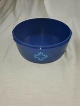 Tupperware Blue Servalier Storage Container #1204 No Lid - $8.40