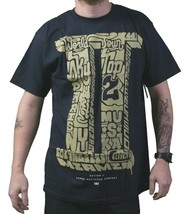 Supra Footwear Mens Navy Skateboarding Skytop II World Tour T-Shirt 2 3 4XL NWT