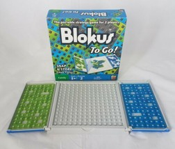 Blokus To Go Travel Board Game A Portable Strategy Game Mattel Complete  - $17.81