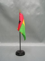 "GUINEA BISSAU 4X6"" TABLE TOP FLAG W/ BASE NEW DESK TOP HANDHELD STICK FLAG - $4.95"