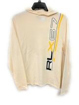 Men's Polo Ralph Lauren RLX 100% Cashmere Beige Hoodie Medium RARE VINTAGE - $69.29