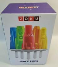 ZOKU 6 Space Pop Ice Pop Molds Rockets & Astronauts Summer Frozen Treat ... - $24.19