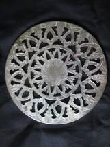 """Leonard Silver Plate 6"""" Glass Trivet Hong Kong - $10.00"""
