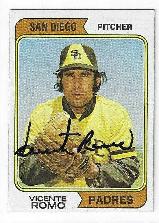 Primary image for Vicente Romo Signed 1974 Topps Card / Autographed