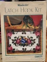 "Wonderart by Caron Latch Hook Rug Patchwork Elegant Roses 34"" x 24"" Kit - $36.76"