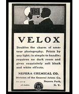 Velox Photo Paper AD 1901 Nepera Chemical Contact Print Photo Silhouette AD - $12.99