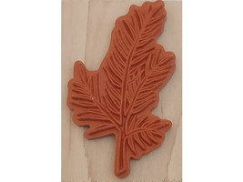 A Muse Art stamps Evergreen Branch Wood Mounted Rubber Stamp #2-4153J image 2