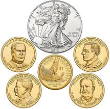 2013 W US Mint Set Unc Silver Dollar & Native American Golden + 4 Presidents XA5 image 2