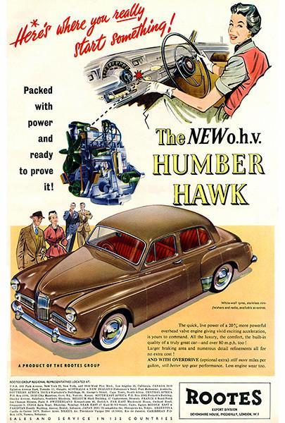 1955 Humber Hawk - Promotional Advertising Poster