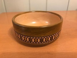 Vintage Swiss Berner Oberlander Handwerk Wooden Carved Bowl  - $24.99