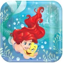 """Ariel Dream Big 8 9"""" Lunch Plates Birthday Party Little Mermaid - $5.22"""