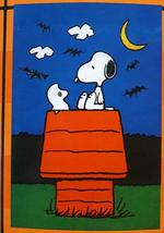 "Peanuts Snoopy & Woodstock The Ghost Halloween One Sided Garden Flag,12""w X 18""l - $35.59"