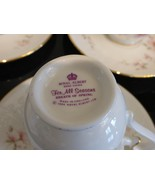 ROYAL ALBERT BREATH OF SPRING FOR ALL SEASONS SET OF 5 CUPS AND SAUCERS - $99.00