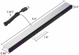 Replacement Wired Infrared IR Ray Motion Sensor Bar Compatible w/Wii and Wii U image 2
