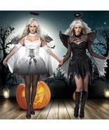 Halloween Women Girl Wings Angel Devil Ghost Vampire Cosplay Fancy Dress... - $18.95+