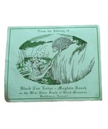 Black Fox Lodge Mayfair Ranch Vermont Elmo Jones Ex Libris Exlibris Book... - $29.69