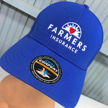 Farmers Insurance Cool Comfort Otto Blue Adjustable Baseball Hat Cap - $17.07