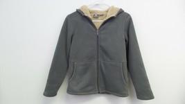 New Boy's White Sierra Youth Hooded Fleece Jacket -Size: M- Color: Castl... - $14.70