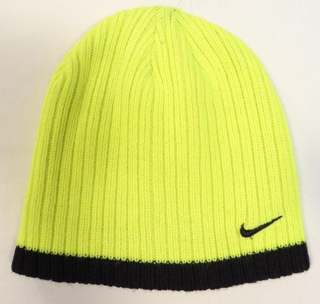 Nike Swoosh Volt   Black Knit Beanie Skull and 50 similar items. S l1600 f9dfacd1fed3