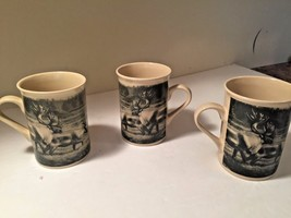 Designpac  Field & Stream Set of 3 Cup Mugs Wild Game Elk COOL - $12.46