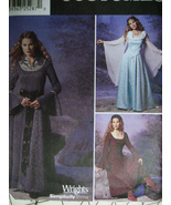Simplicity 9891 Womens 14 to 20 Renaissance Gown Costume Sewing Pattern - $9.95