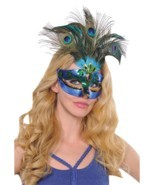 Peacock Feather Mask - £19.05 GBP