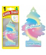 6 Pack: LITTLE TREES Car Home Office Hanging Air Freshener - Cotton Cand... - $10.88