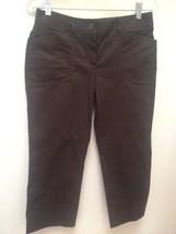 New Ann Taylor Loft Petite Pants 6P Brown Cotton Stretch Cropped - $23.50