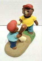 1990 Hallmark Tender Touches Bears Playing Baseball Ornament QEC9896 - $10.00