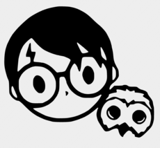 Harry Potter And Hedwig Vinyl Decal Car Wall FREE GIFT WITH PURCHASE - $6.00+