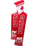 Canada Warm One-Piece Reversible Color Knit Hood Scarf Red/White - $18.95